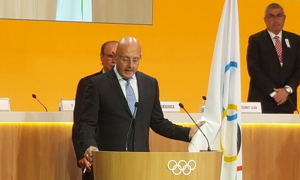 IBSF President Ferriani at IOC Extraordinary Session in Lausanne